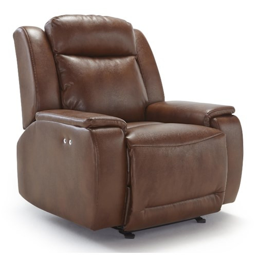 Best Home Furnishings Hardisty Casual Power Space Saver Recliner with Memory Foam Cushions
