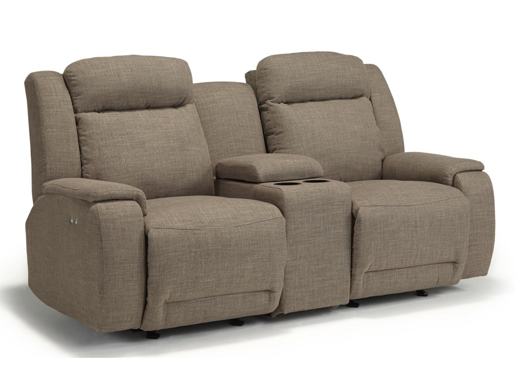 Best Home Furnishings HardistySpace Saver Reclining Loveseat w/ Console