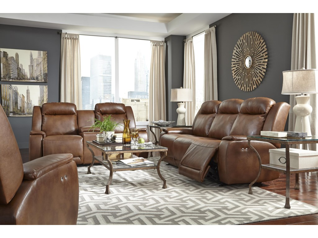 Best Home Furnishings HardistyPower Rocking Reclining Loveseat w/ Console