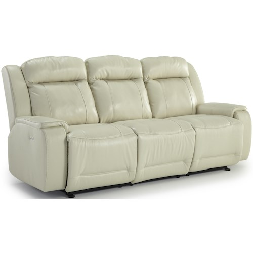 Best Home Furnishings Hardisty Casual Reclining Sofa with Memory Foam Cushions