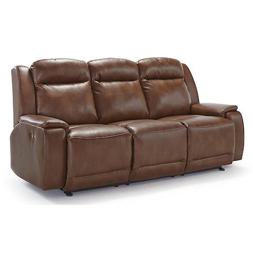 Best Home Furnishings Hardisty Casual Power Reclining Sofa with Memory Foam Cushions