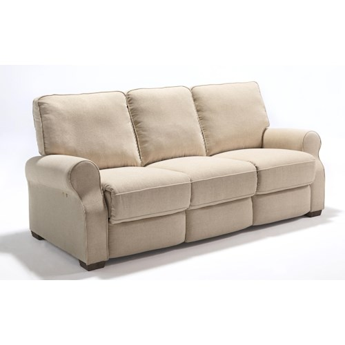 Best Home Furnishings Hattie Traditional Power Reclining Sofa with High Legs