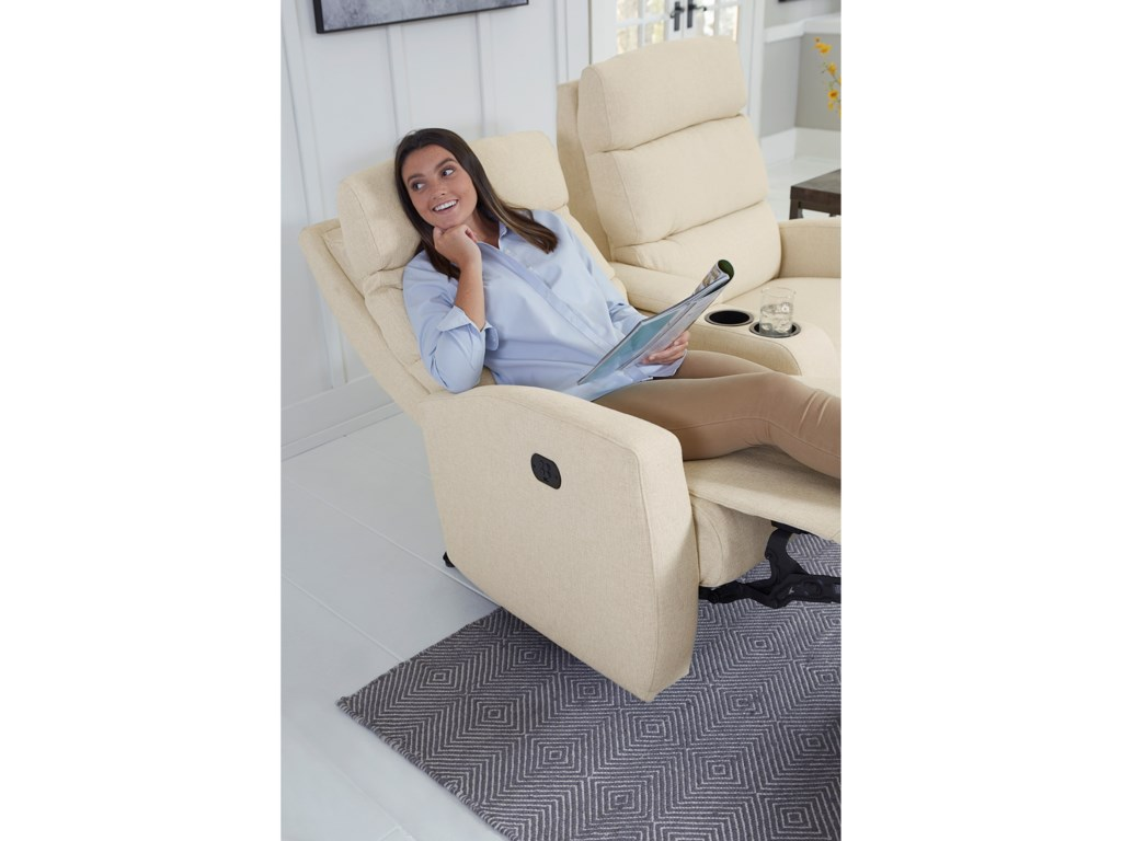 Best Home Furnishings HillariePwr Reclining Wall Console Love w/ Pwr Head
