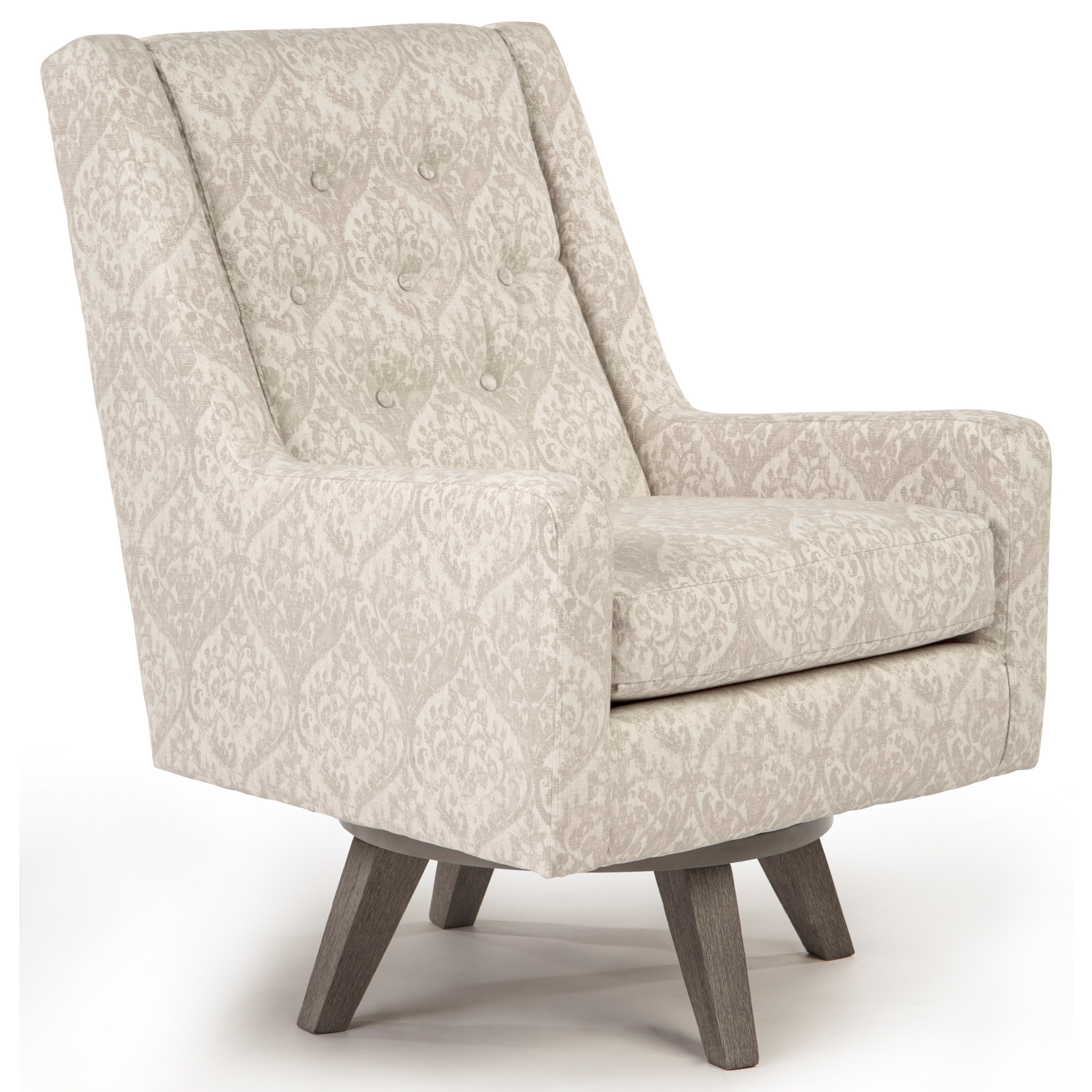 Image of: Best Home Furnishings Kale Mid Century Modern Swivel Chair Wayside Furniture Upholstered Chairs