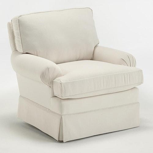 Best Home Furnishings Kamilla Kamilla Skirted Club Chair