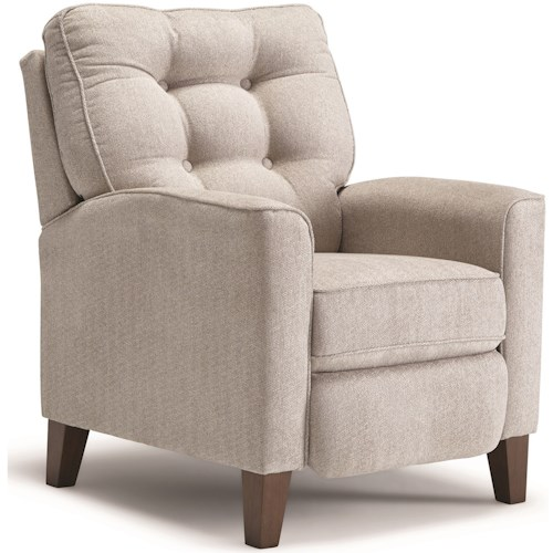 Best Home Furnishings Karinta High Leg Recliner with Tufted Back