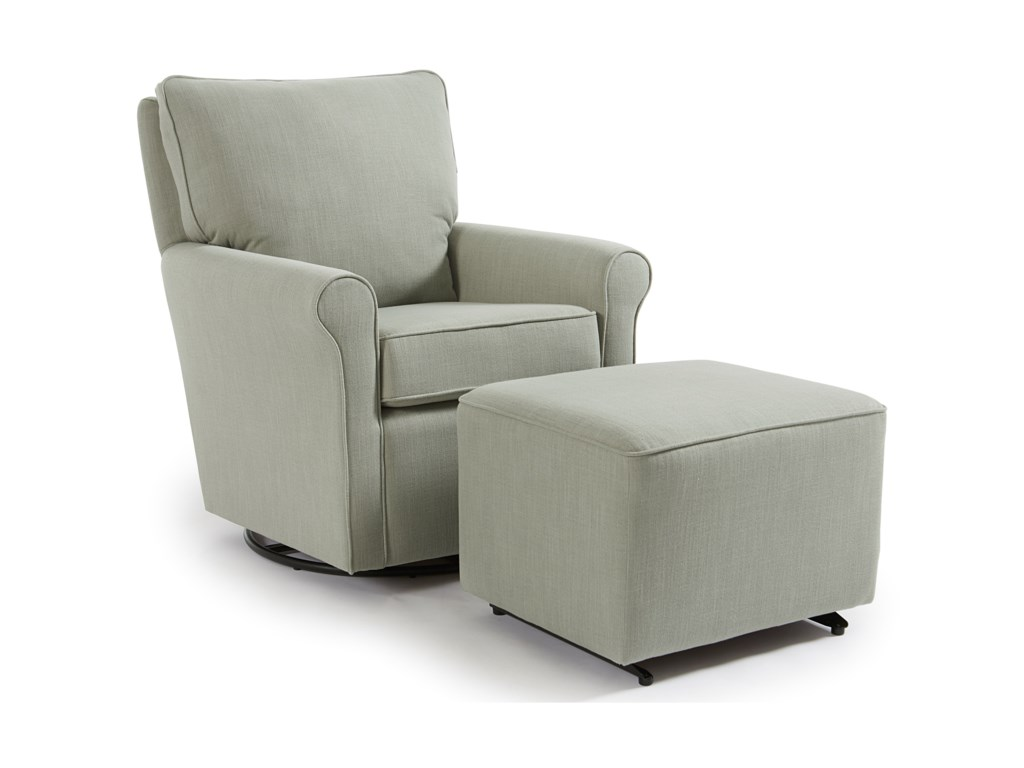 Studio 47 KaceySwivel Glider Chair & Ottoman