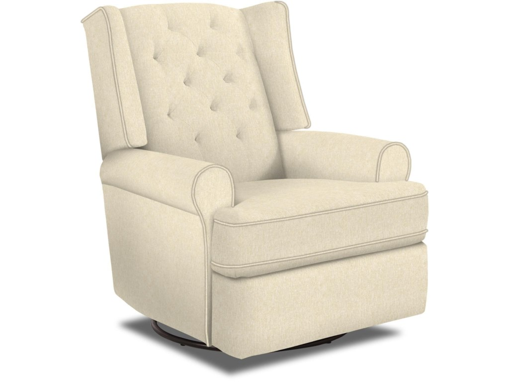 Best Home Furnishings Kendra Traditional Tufted Swivel Glider ...
