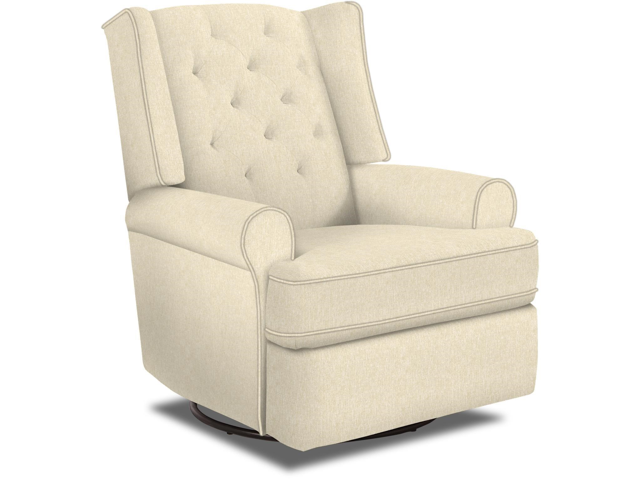 Best Home Furnishings Kendra Traditional Tufted Swivel Glider Recliner With  Inside Handle