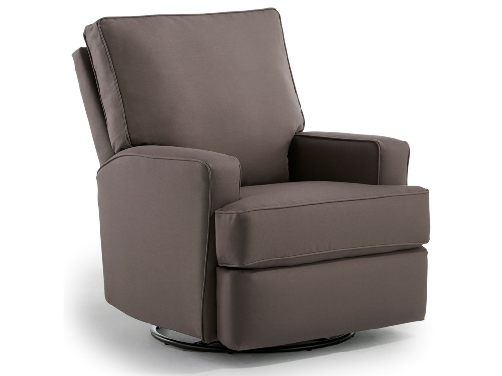 Best Home Furnishings KerseySwivel Glider Recliner w/ Inside Handle