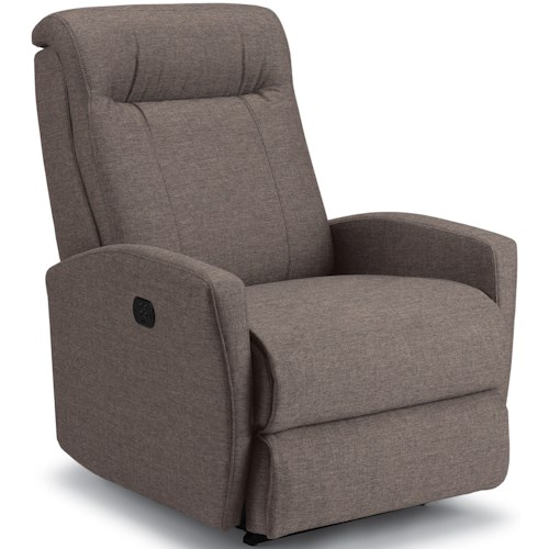 Best Home Furnishings Kup Small Scale Power Rocker Recliner