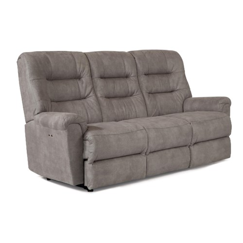 Best Home Furnishings Langston Casual Power Motion Sofa with Automotive-Inspired Design