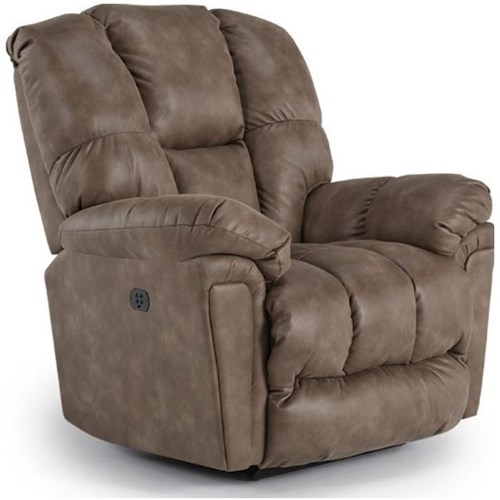 Best Home Furnishings Lucas Casual Power Space-Saver Recliner with Power Tilt Headrest