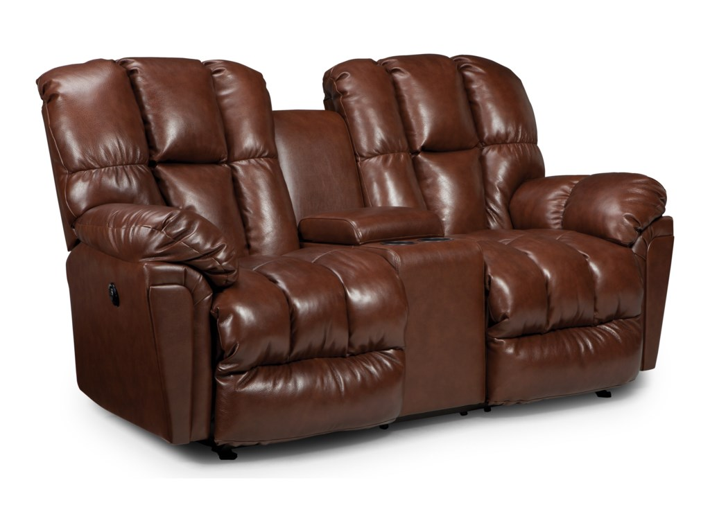 Best Home Furnishings LucasSpace Saver Reclining Loveseat w/ Console