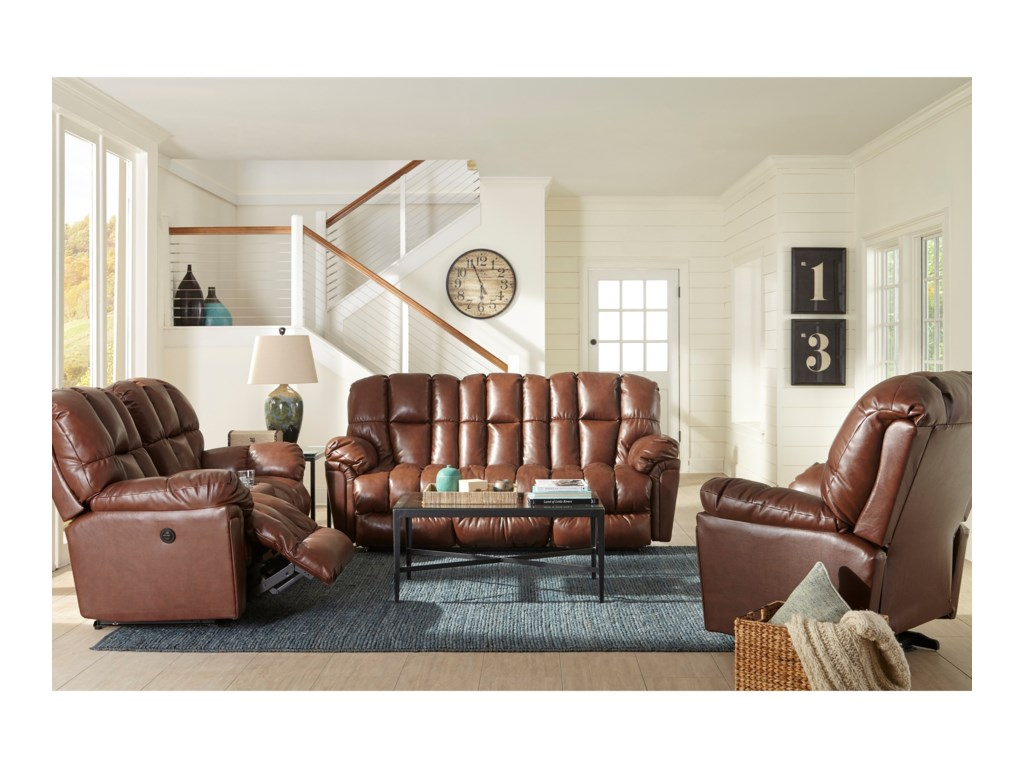 Best Home Furnishings LucasRocking Reclining Loveseat w/ Console