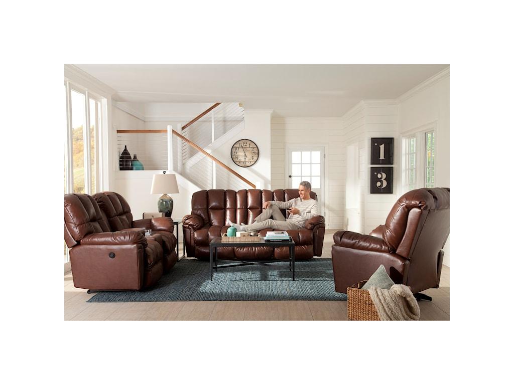 Best Home Furnishings LucasPower Rocking Reclining Loveseat w/ Console