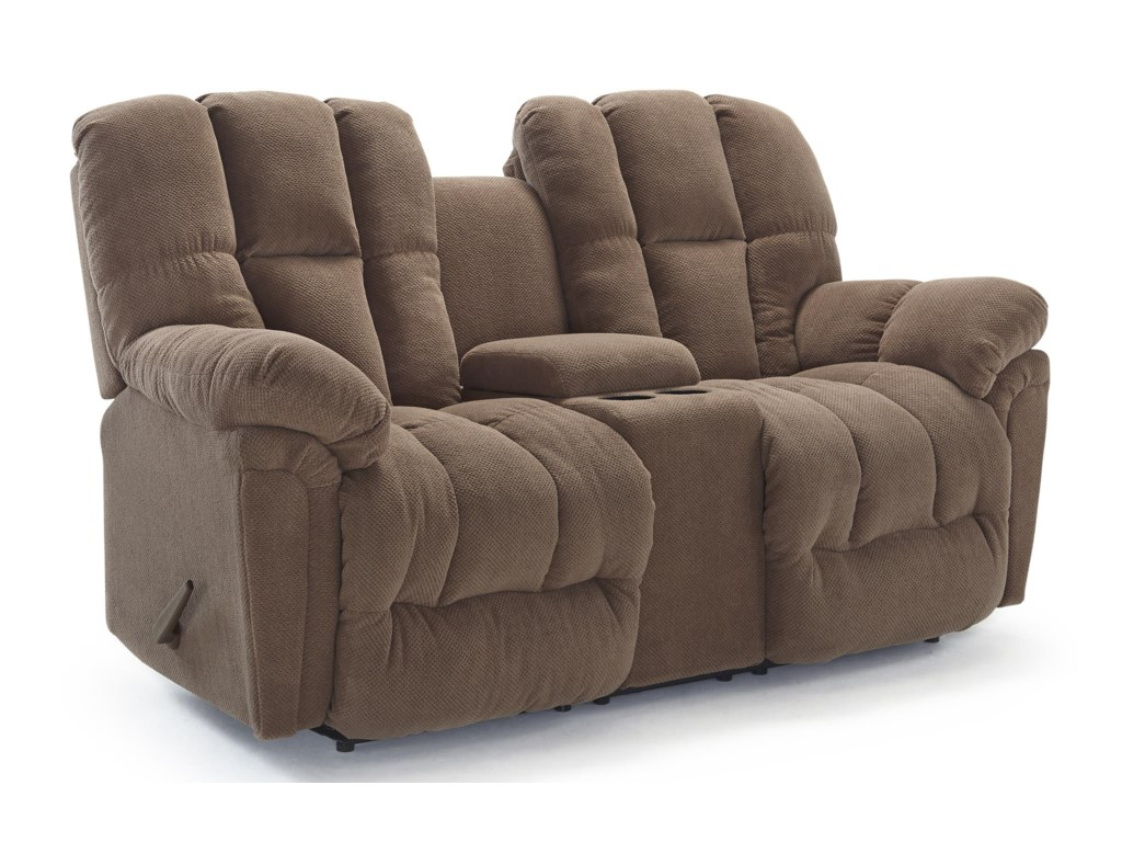 Best Home Furnishings LucasPwr Space Saver Reclining Loveseat w/ Cnsle