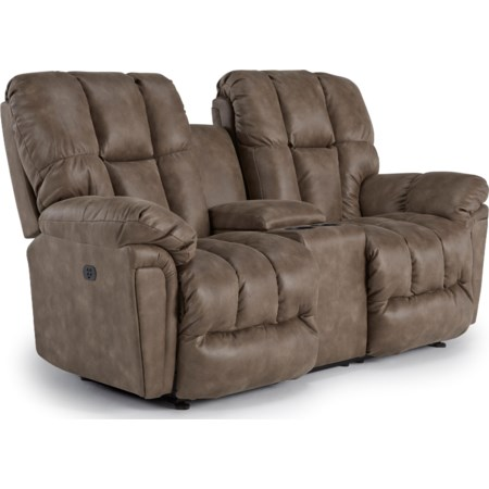 Pwr Rock Reclining Love w/ Console & Headres