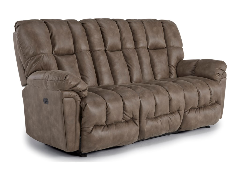 Lucas Casual Plush Reclining Sofa With Full Coverage Chaise Legrest By Best Home Furnishings