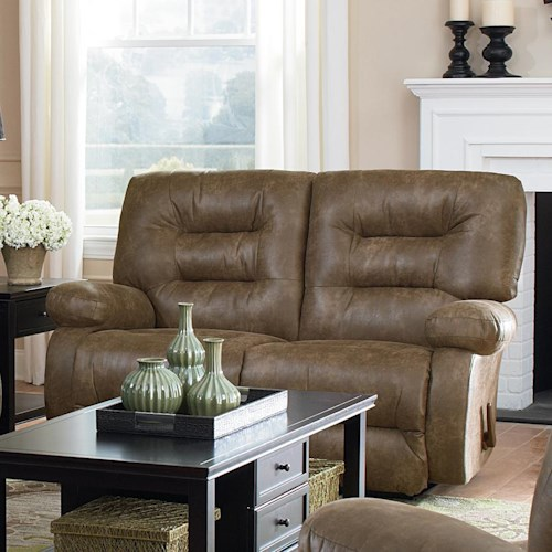 Best Home Furnishings Maddox Power Space Saver Loveseat Chaise with Pillow Arms