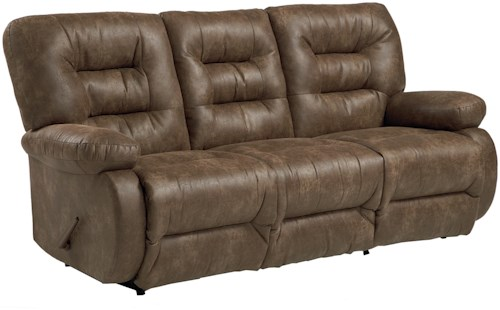 Best Home Furnishings Maddox Space Saver Sofa Chaise with Pillow Arms