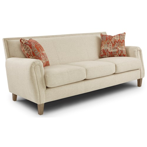 Best Home Furnishings Madelyn Tight Back Sofa with Club Arms