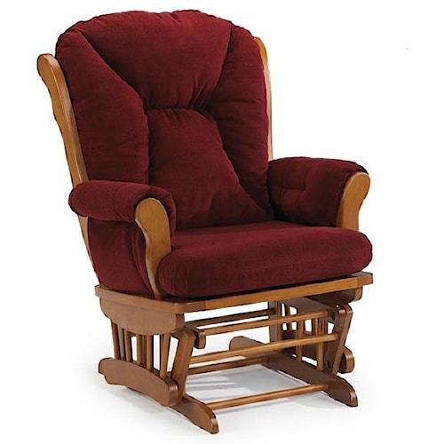 Best Home Furnishings Manuel Upholstered Glide Rocker