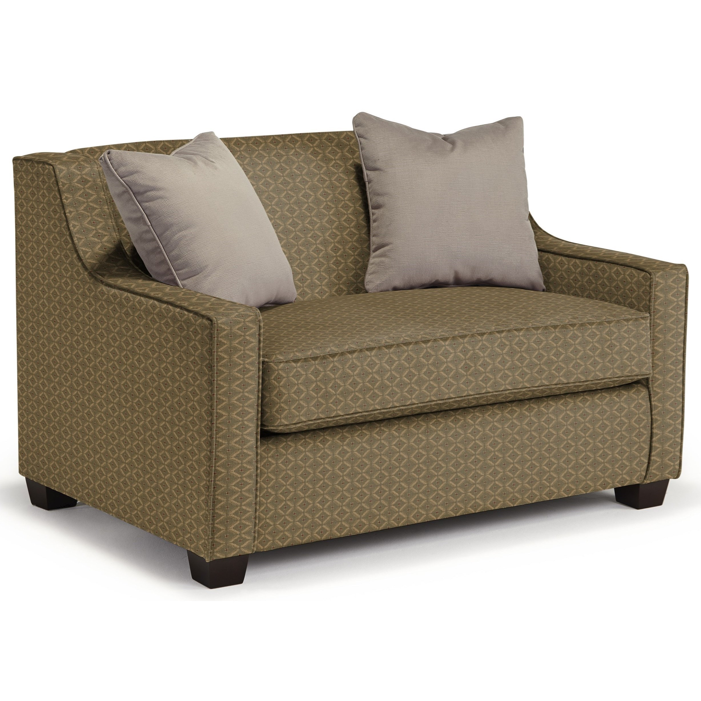 Picture of: Best Home Furnishings Marinette Twin Size Sleeper Chair With Toss Pillows Godby Home Furnishings Sleeper Sofas
