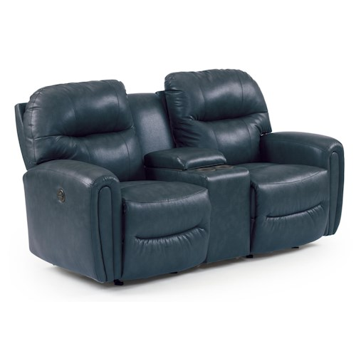 Best Home Furnishings Markson Power Rocker Console Loveseat with Dome Track Arms