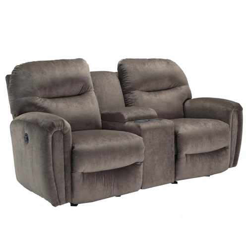Best Home Furnishings Markson Rocker Console Loveseat with Dome Track Arms