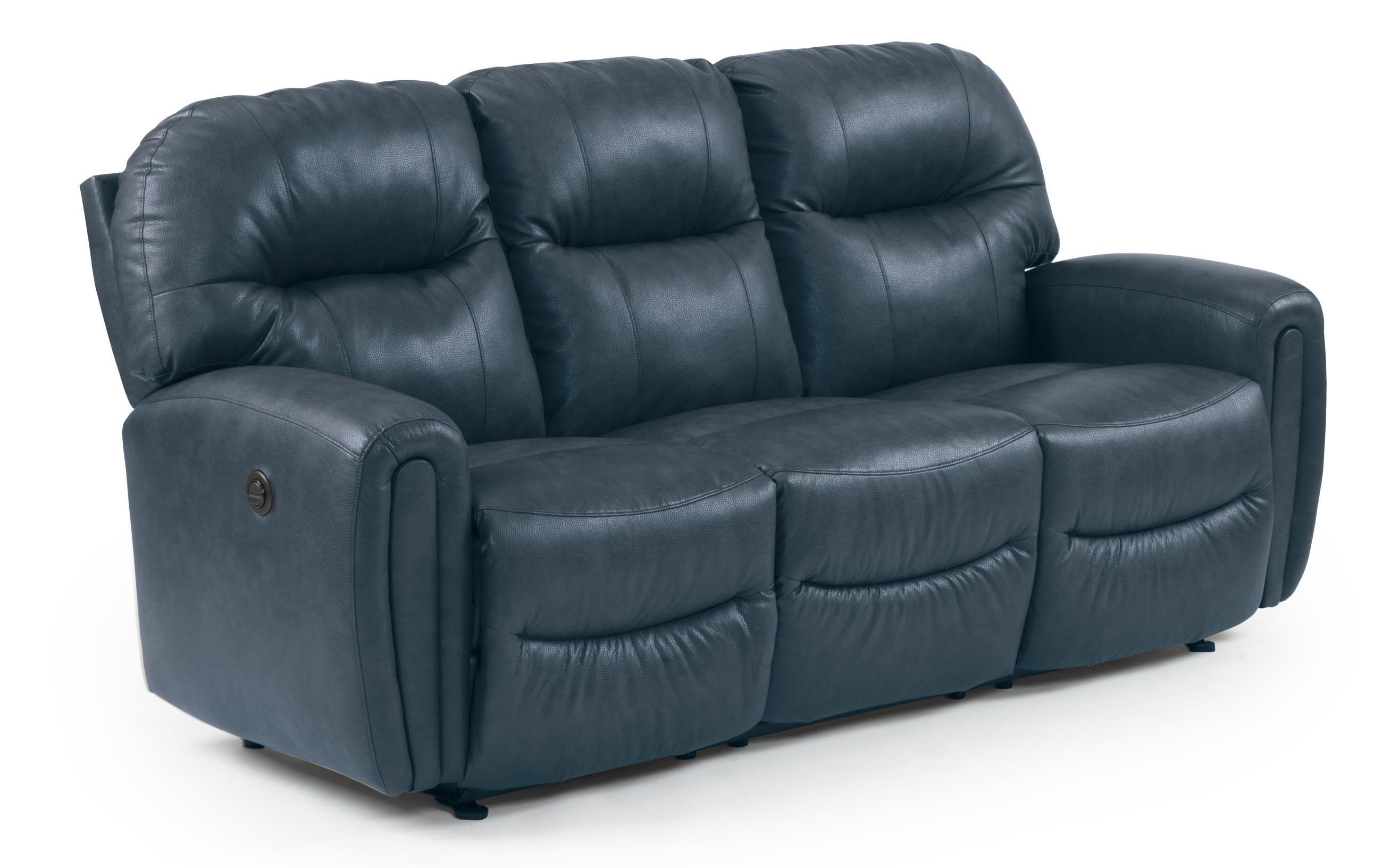 Best Home Furnishings Markson Power Space Saver Sofa Chaise with Dome Track Arms - Great American Home Store - Reclining Sofas  sc 1 st  Great American Home Store : best power recliner sofa - islam-shia.org