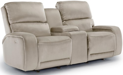 Best Home Furnishings Matthew Rocking Reclining Loveseat with Cupholder Console