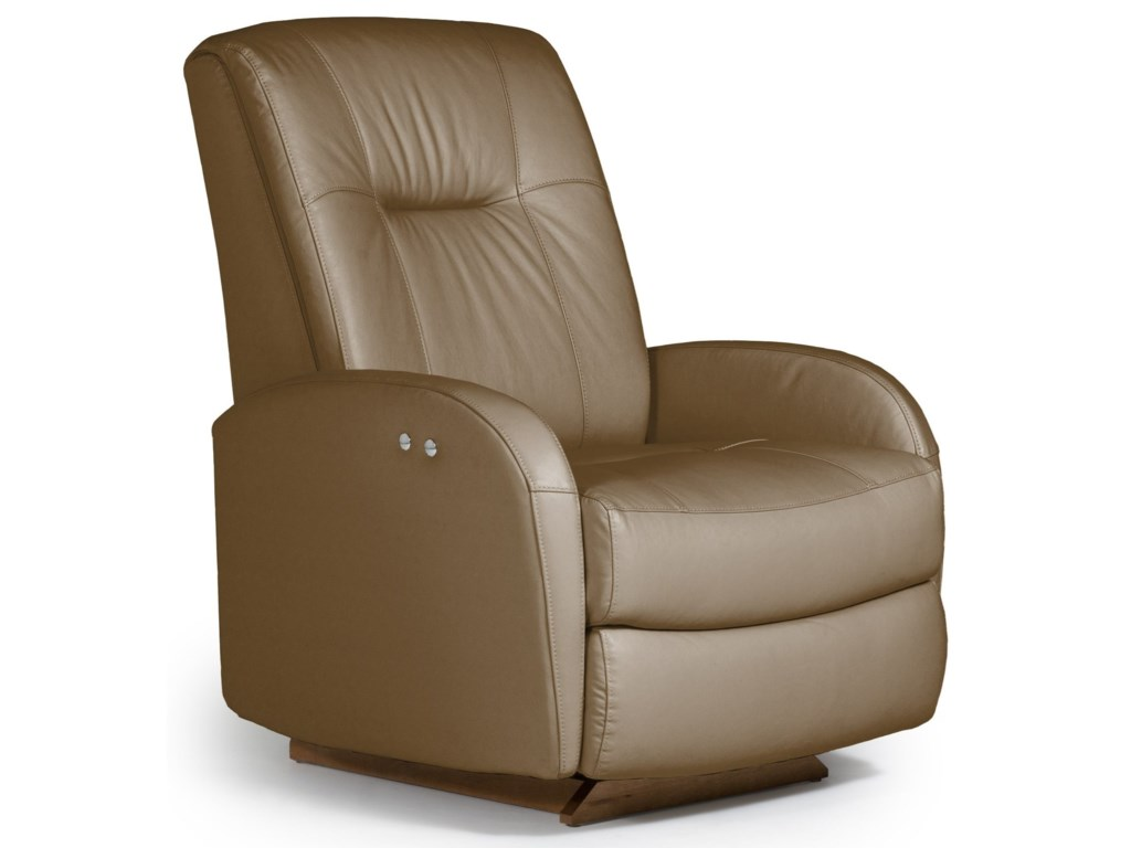 Best Home Furnishings Medium ReclinersRuddick Power Space Saver Recliner