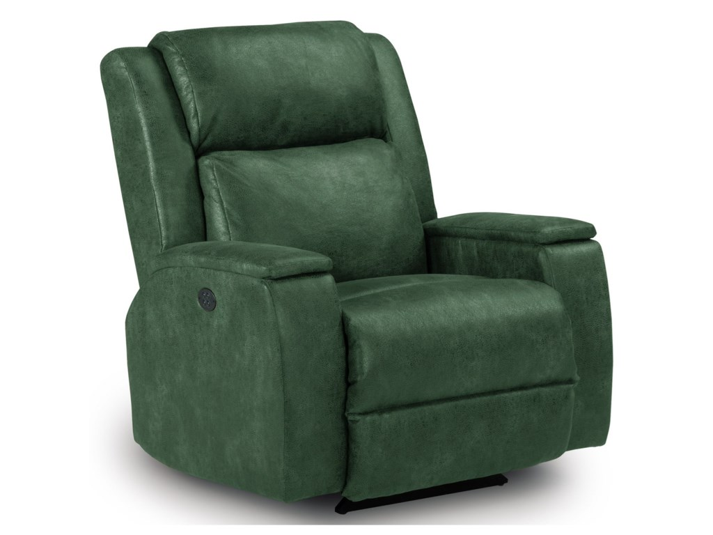 Best Home Furnishings Medium ReclinersColton Power Rocker Recliner