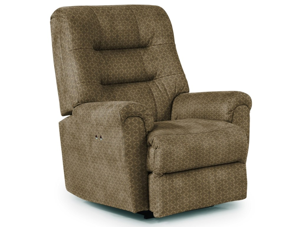 Best Home Furnishings Medium ReclinersLangston Power Space Saver Recliner