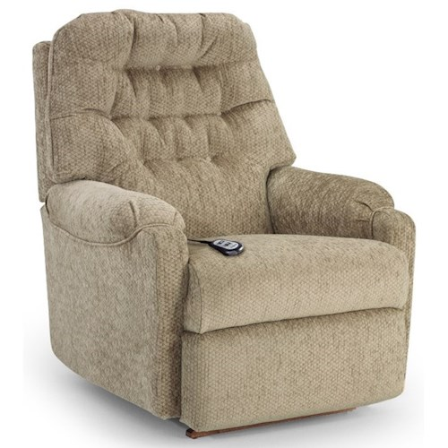 Best Home Furnishings Recliners - Medium Power Rocker Recliner