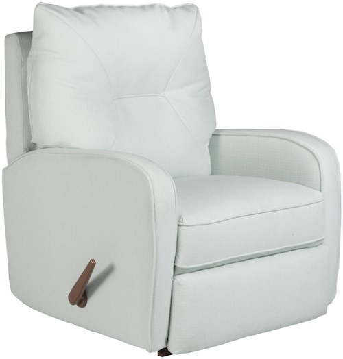 Best Home Furnishings Recliners - Medium Contemporary Ingall Swivel Glider Recliner in Sleek Modern Style
