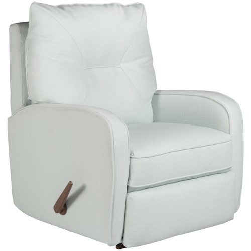 Best Home Furnishings Medium Recliners Contemporary Ingall Swivel Glider Recliner in Sleek Modern Style