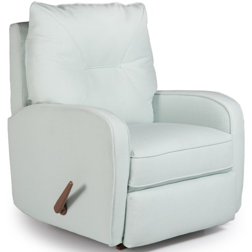 Best Home Furnishings Medium Recliners Contemporary Ingall Power Rocker Recliner in Sleek Modern Style