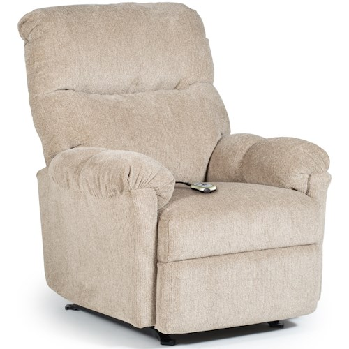 Best Home Furnishings Medium Recliners Balmore Power Rocking Reclining Chair