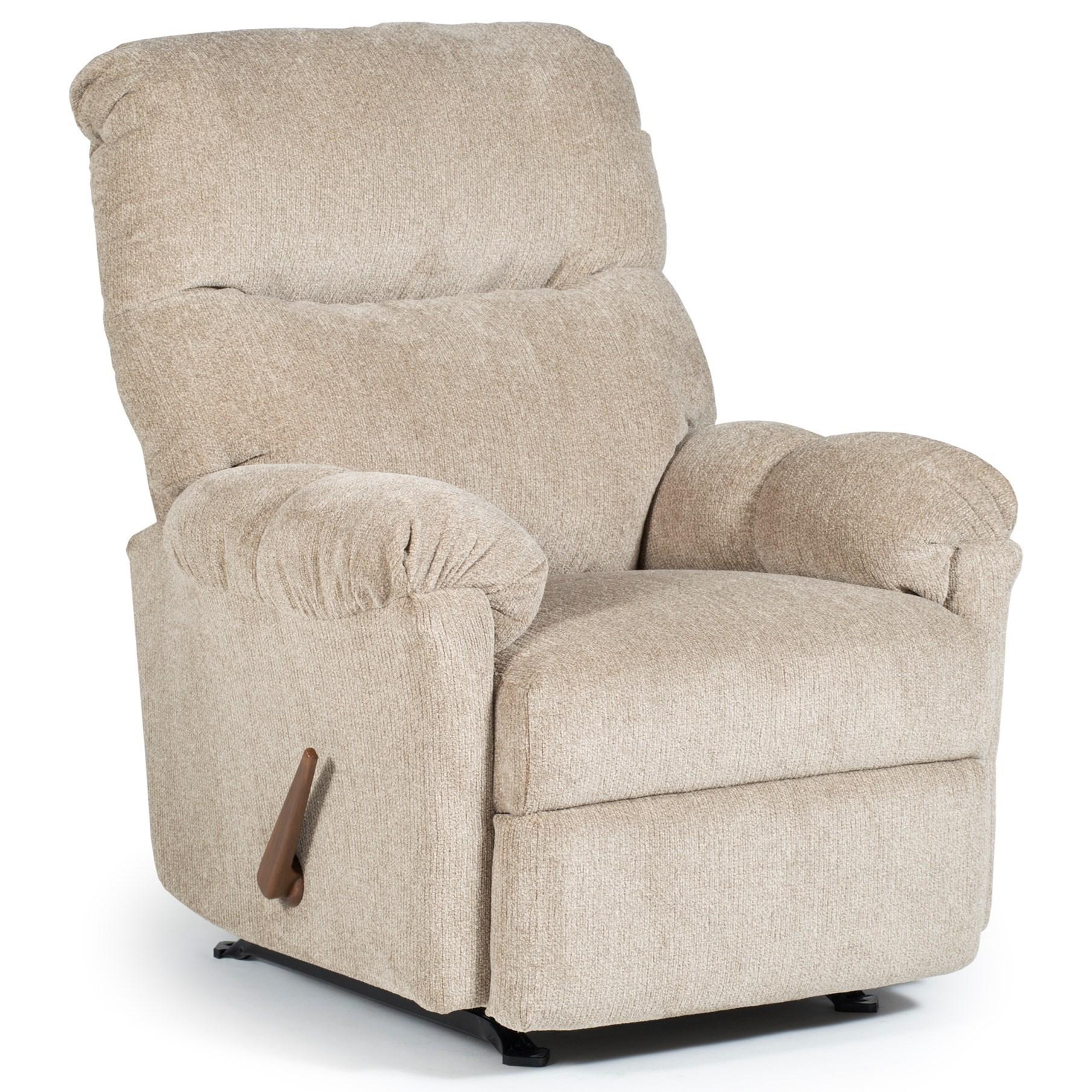 Best Home Furnishings Recliners   Medium Balmore Swivel Rocking Reclining  Chair