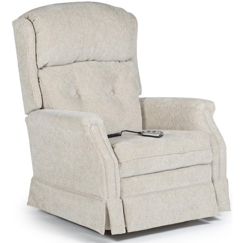Best Home Furnishings Medium Recliners Kensett Power Rocker Recliner