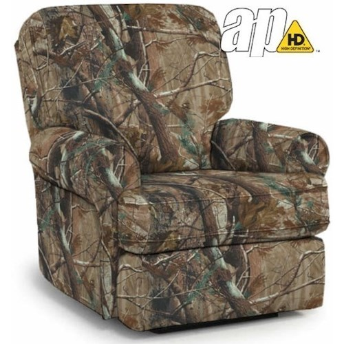 Best Home Furnishings Medium Recliners Tryp Rocker Recliner with Inside Handle