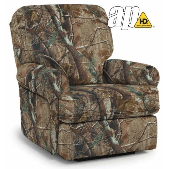 Best Home Furnishings Medium ReclinersTryp Power Rocker Recliner