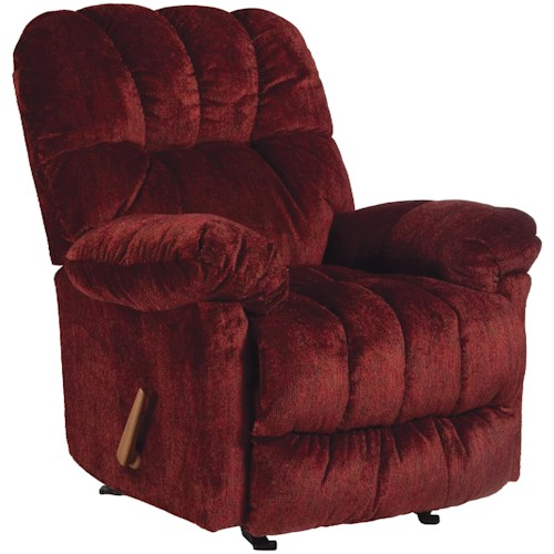 Best Home Furnishings Medium Recliners McGinnis Casual Power Rocker Recliner with Plush Upholstered Arms