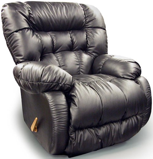 Best Home Furnishings Recliners - Medium Plusher Swivel Rocking Reclining Chair