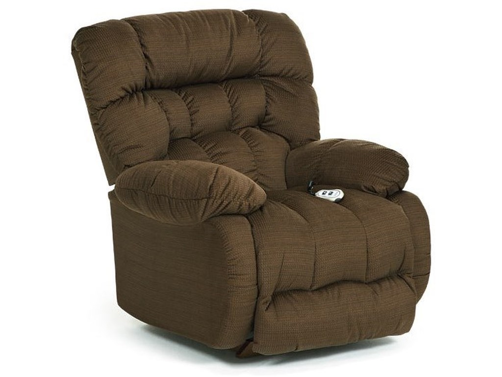 Best Home Furnishings Medium ReclinersPlusher Power Swivel Glider Recliner