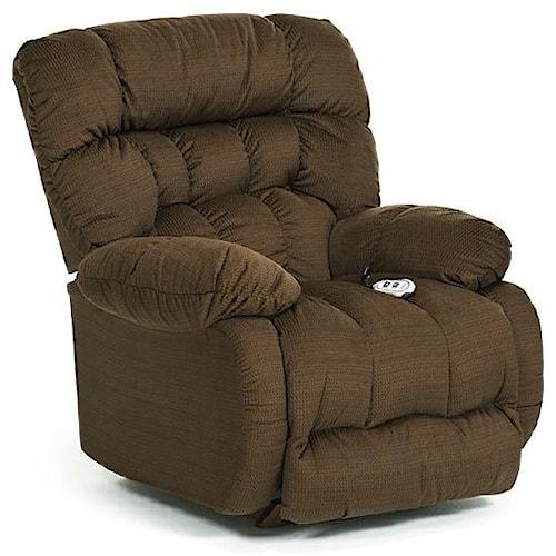 Best Home Furnishings Medium Recliners Plusher Swivel Rocking Reclining Chair