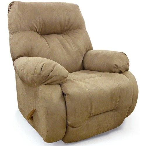Best Home Furnishings Medium Recliners Power Rocking Reclining Chair