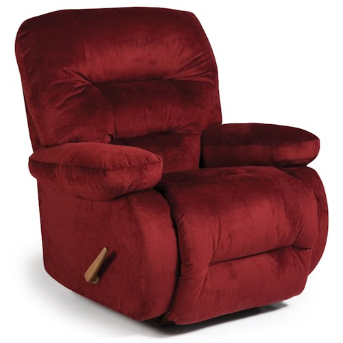 Best Home Furnishings Recliners - Medium Maddox Swivel Glider Recliner with Line-Tufted Back